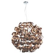 Rawley 12 Light Pendant in Brushed Satin Copper Twisted Decoration - där RAW1264
